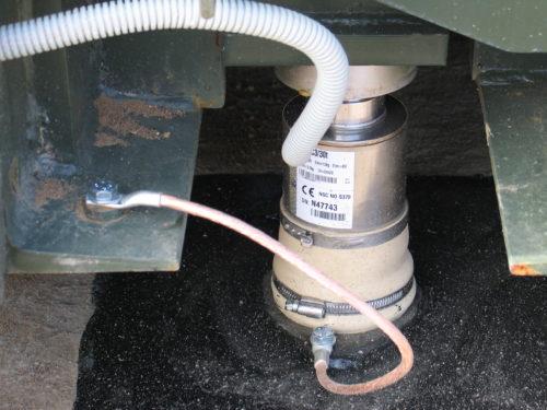 Тензодатчик HBM C16i, подключенный к автомобильным весам